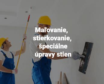 Maľovanie, stierkovanie, špeciálne úpravy stien